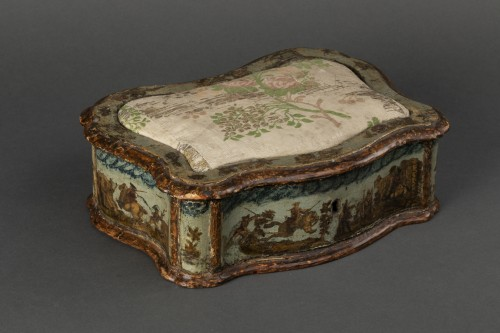 Sewing box made of wood and arte povera - Veneto - Early 18th century - Objects of Vertu Style