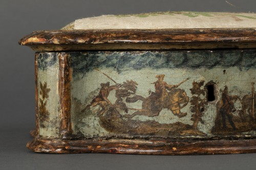 Sewing box made of wood and arte povera - Veneto - Early 18th century -