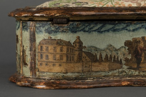 - Sewing box made of wood and arte povera - Veneto - Early 18th century
