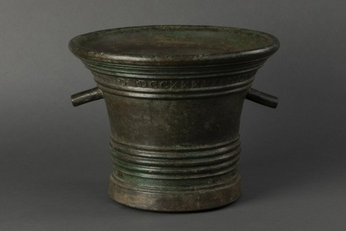 Collectibles  - Bronze mortar - Aquila - dated 1738
