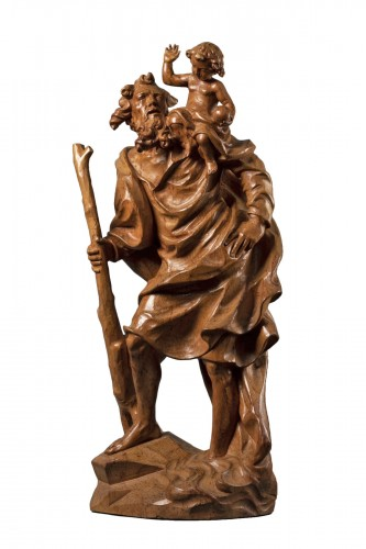 Wooden Saint Christopher - Austria - late 17th/early 18th century