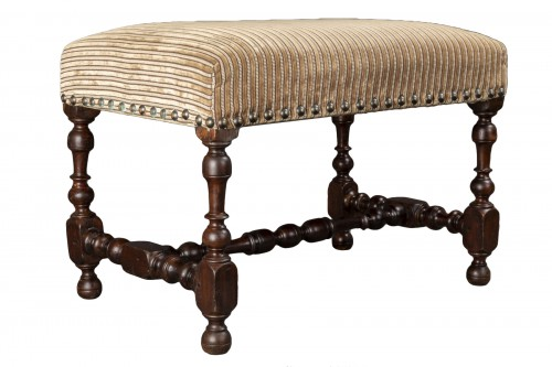 Walnut bench - France - Louis XIII