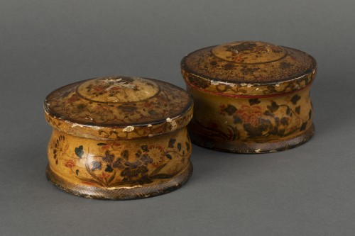 Pair of cartapesta boxes - Italy - early 18th century - Objects of Vertu Style