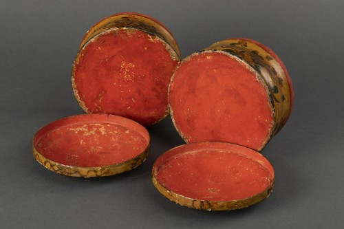 18th century - Pair of cartapesta boxes - Italy - early 18th century