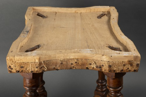 - Pair of walnut stools - Northern Italy - second half of the 17th century