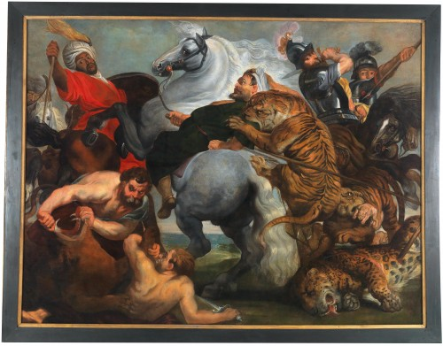 Tiger hunting - Antwerp - Early 17th century - Paintings & Drawings Style