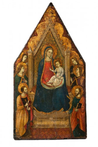 "Virgin in majesty with a ""golden background"" - Tuscan Primitive - 14th cent"