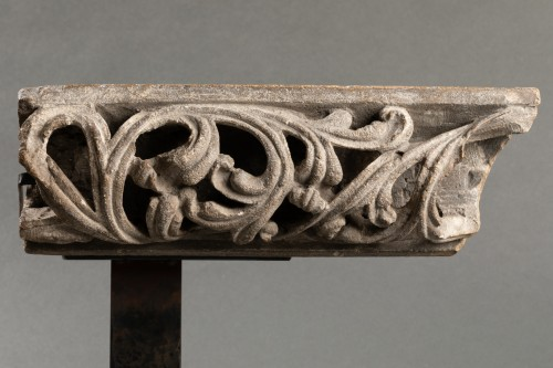Middle age - Fragment of an openwork frieze - France - 14th century