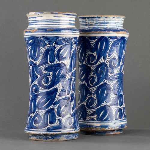 Pair of albarelli - Catalonia - 17th century -