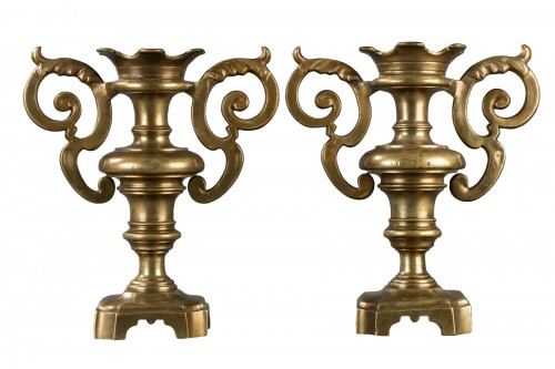 Pair of decorative elements - Italy - 17th century