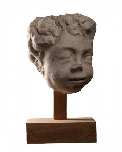 Putto head - Italy - 17th century
