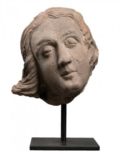 Man's head (St John?) - Strasbourg - end of the 15th century