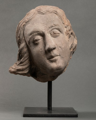Sculpture  - Man's head (St John?) - Strasbourg - end of the 15th century