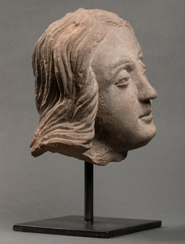 Man's head (St John?) - Strasbourg - end of the 15th century - Middle age