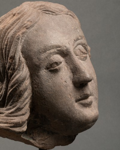 Middle age - Man's head (St John?) - Strasbourg - end of the 15th century