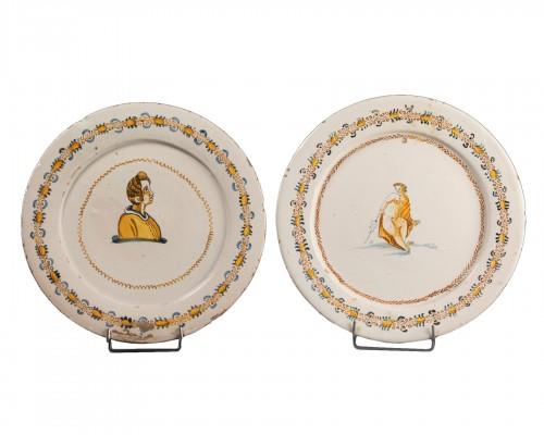 "Two dishes ""a compendiario"" - Castelli - 17th century"