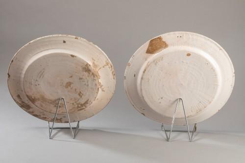 "Two dishes ""a compendiario"" - Castelli - 17th century -"