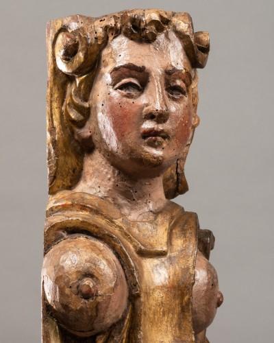 <= 16th century - Pair of caryatids - Italy 16th century