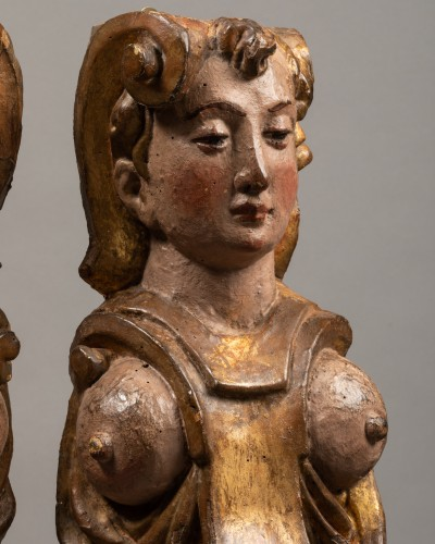 Renaissance - Pair of caryatids - Italy 16th century