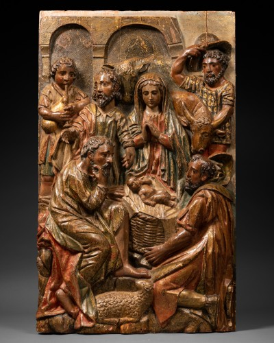 Two altarpiece panels - Spanish Renaissance - 16th century - Sculpture Style Renaissance