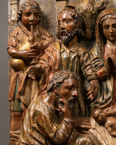 Sculpture  - Two altarpiece panels - Spanish Renaissance - 16th century