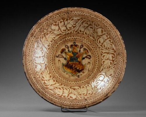 Armor Platter Bardi family - Castelfiorentino 16th century  - Porcelain & Faience Style