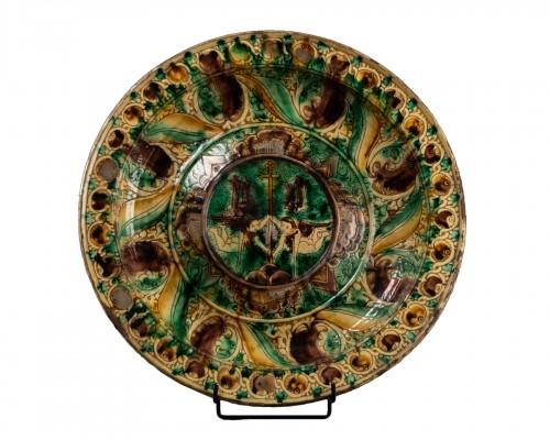 Dish two angels - Castelfiorentino - 16th century