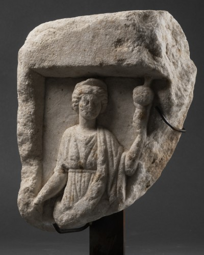 Ancient Art  - Element of a Roman sarcophagus - Italy - 2nd / 3rd century A.D.