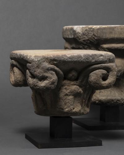 Sculpture  - Gothic period capitals - France - 13th century