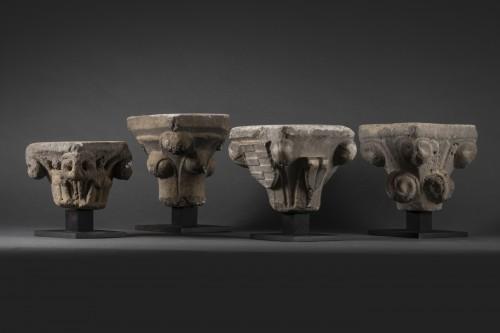 Antiquités - Gothic period capitals - France - 13th century