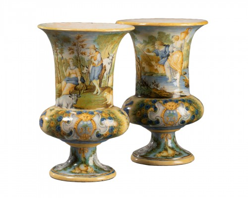 Pair of Medicis vases - Siena early 18th century