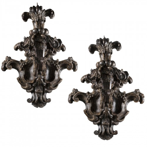 Pair of baroque sconces - 17th century - Northern Italy