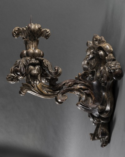 Pair of baroque sconces - 17th century - Northern Italy - Lighting Style