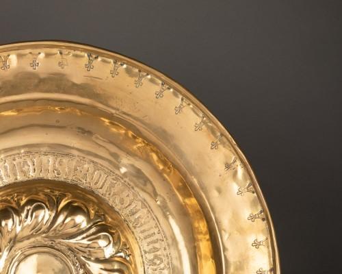 Religious Antiques  - Alms dish - Circa 1500 - Nuremberg