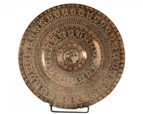 Hispano-Moorish dish - Manises Circa 1500