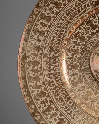 Porcelain & Faience  - Hispano-Moorish dish - Manises Circa 1500