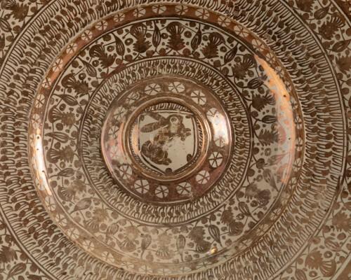 <= 16th century - Hispano-Moorish dish - Manises Circa 1500