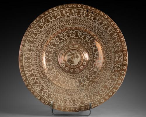Antiquités - Hispano-Moorish dish - Manises Circa 1500