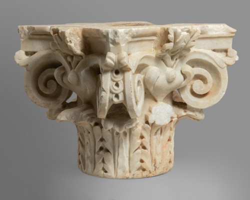 Capital of composite order - Italy 16th century - Sculpture Style