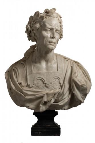 Caesar's bust in marble - Venetian Baroque - 17th century