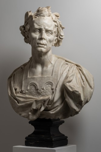 Sculpture  - Caesar's bust in marble - Venetian Baroque - 17th century