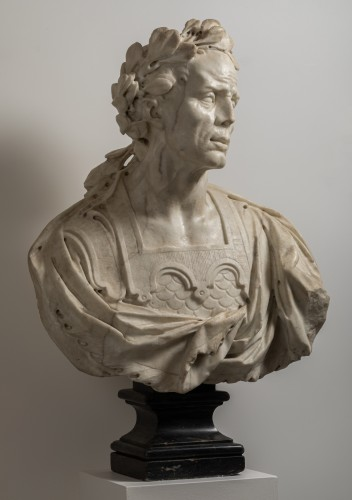Caesar's bust in marble - Venetian Baroque - 17th century -