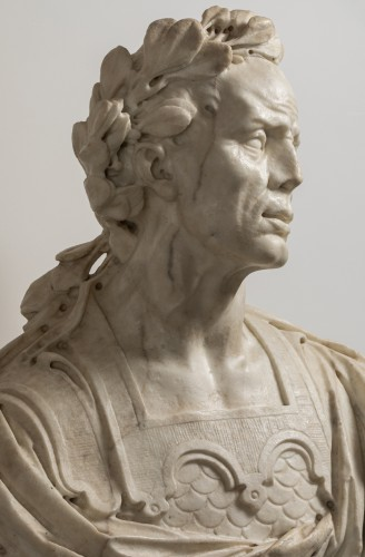 17th century - Caesar's bust in marble - Venetian Baroque - 17th century