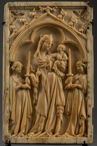 Religious Antiques  - Left sheet of a diptych  in Ivory - France - circa 1340