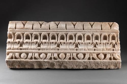 Decorated Cornice - Roman empire - 1st-2nd Century AD - Ancient Art Style