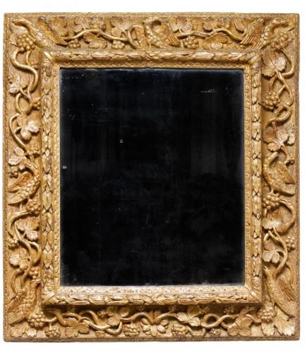 Gilded wooden mirror - Burgundy - 17th century