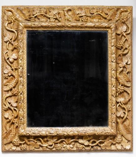 Mirrors, Trumeau  - Gilded wooden mirror - Burgundy - 17th century