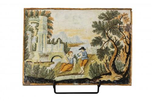 Plaque en majolique - Castelli - début du XVIIIe siècle