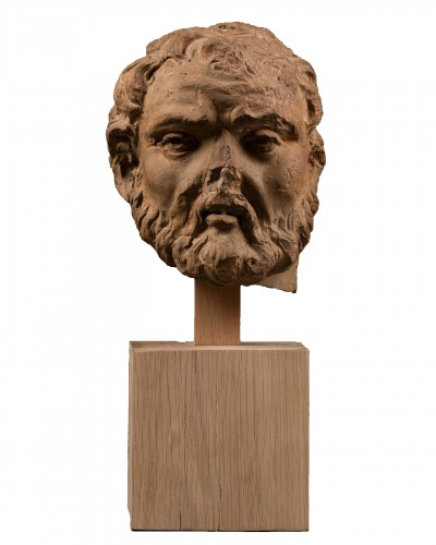 Study of a terracotta head, representing Hercule -Italy - Late 15th century