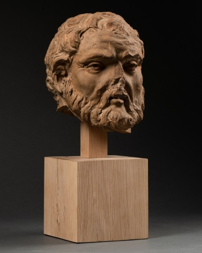 Study of a terracotta head, representing Hercule -Italy - Late 15th century - Sculpture Style Renaissance